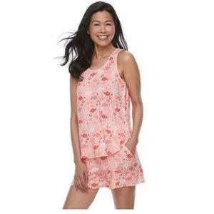 Croft & Barrow Printed Sleep Tank & Shorts Pajamas